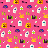 Halloween Boo Seamless Pattern