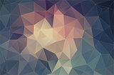flat pastel color background with triangles shapes