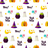 Halloween Treat Seamless Pattern