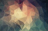 Polygonal triangle background