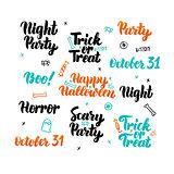 Happy Halloween Lettering Set
