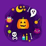Happy Halloween Paper Cut