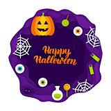 Happy Halloween Papercut Concept