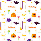 Happy Halloween Print Seamless Pattern