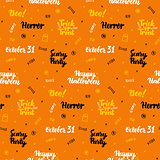 Orange Halloween Seamless Pattern