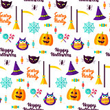 Scary Halloween Party Seamless Pattern
