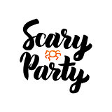 Scary Party isolated Lettering