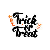 Trick or Treat isolated Calligraphy