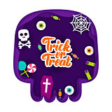 Trick or Treat Papercut Concept