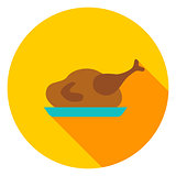Turkey Dinner Circle Icon