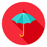 Umbrella Circle Icon