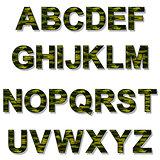 Alphabet Military Camouflage