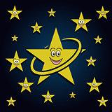 Smiling stars in the sky