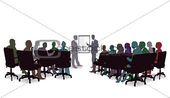 Business Seminar, Meeting Discussion, Illustration