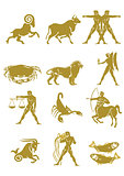 Astrology horoscope, zodiac set