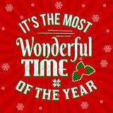 It's the most wonderful time of the year vintage greeting card or poster