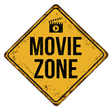 Movie zone vintage rusty metal sign