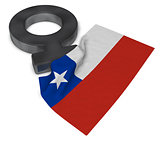 female symbol and flag of chile - 3d rendering