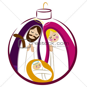 Baby Jesus in a manger vector 12