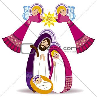 Baby Jesus in a manger vector 13