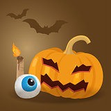 Happy halloween  vector illustration.