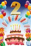 Second birthday poster