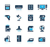 Household Appliances Icon Set // Azure Series