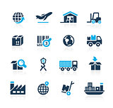 Industry and Logistics Icons // Azure Series