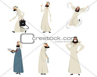 Six arab men