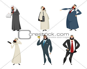 Six arab businessmen