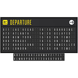 Airport or railroad realistic scoreboard with flip symbols - dep