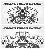 Turbocharging racing engine and motorcycle power motor