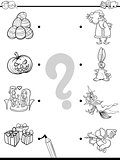 match holidays educational coloring book