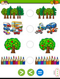 greater less or equal cartoon game for kids