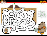 maze activity with mole animal