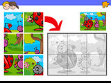 jigsaw puzzles with insect characters