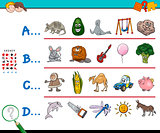 first letter of a word educational game for kids