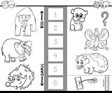 find biggest animal characters color book