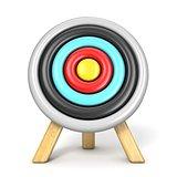 Archery target front view 3D