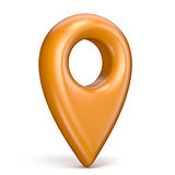 Orange map pointer 3D