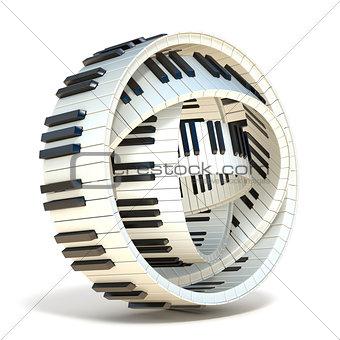 Abstract piano keys 3D