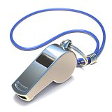 Metal whistle 3D