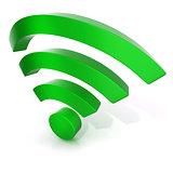 Wireless network symbol, 3D