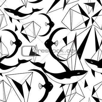 Abstract graphic pattern from geometric shapes