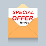 Envelope with personal special offer