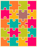 colorful puzzle, separate pieces