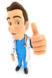 3d doctor positive pose