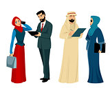 Arab businessmen and businesswomen