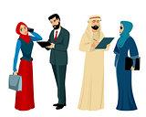 Arab businessmen and businesswomen