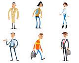 Comical fashion characters